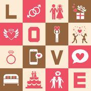 Valentine's day and wedding symbol Stock Illustration