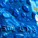 Stock Photo of blue waterdrops