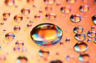 Stock Photo of multicolored waterdrops