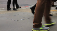 Commuters Walking Close Up - 50FPS Stock Footage