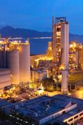 cement plant,concrete or cement factory, heavy industry or construction indus - stock photo