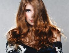 Pretty woman with beautiful long hair Kuvituskuvat