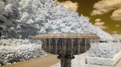 A pretty ornamental fountain in Regents Park on a beautiful sunny day. Stock Footage