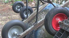 Wheelbarrow Wheel Turning 2 Stock Footage