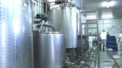 milk  factory Stock Footage