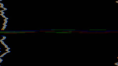 TV Distorted Roll Stock Footage