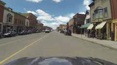 Telluride Colorado historic town center road drive POV HD 0318 Stock Footage
