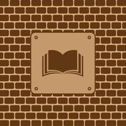 book symbol - stock illustration