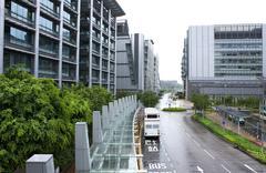 Hong kong modern building at daytime Stock Photos
