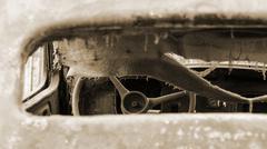 Wreck of old car Stock Photos