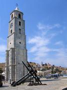 Clock tower and anchor Stock Photos