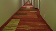 Hotel Hallway Walk Through Guest POV  ED Stock Footage