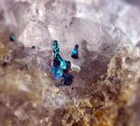 Background from a crystal mineral Stock Photos
