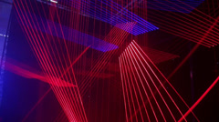 Laser Show and Disco-Light Installations Stock Footage