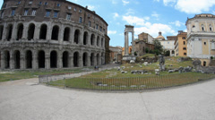 Marcello theater in Rome, Italy Stock Footage