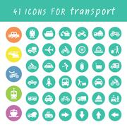 transport icons set - stock illustration