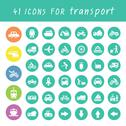 Stock Illustration of transport icons set