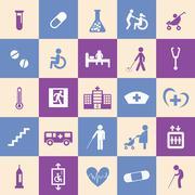 hospital icons set - stock illustration