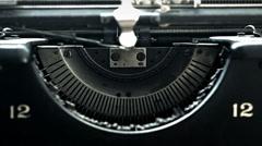 manual typewritter desk close up - stock footage