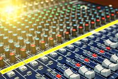 Mixing desk background pattern Stock Photos