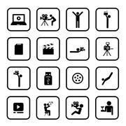 Media symbol set Stock Illustration