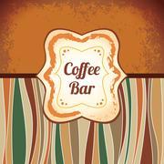 coffee - retro antique template label - stock illustration