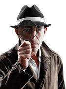 Detective man criminal investigations  silhouette Kuvituskuvat