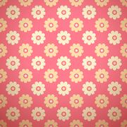 Feminine floral vector seamless pattern (tiling) Stock Illustration