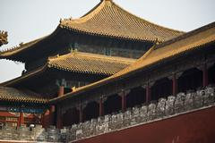 The historical forbidden city museum in the center of beijing.. Stock Photos