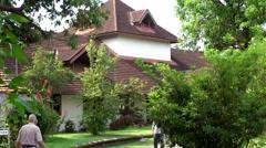 India Kerala Kochi Cochin City 048 touristic area on an island in backwaters - stock footage
