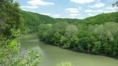 Cinematic Scenic Kentucky River Overlook Beautiful Stock Footage