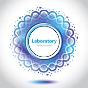 Stock Illustration of abstract azure medical laboratory circle element.