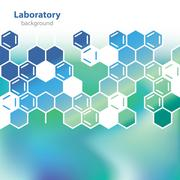 abstract sea-green medical laboratory background. - stock illustration