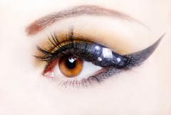 Eye close up with beautiful make-up Stock Photos