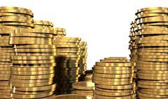 Gold coin stacks Stock Illustration
