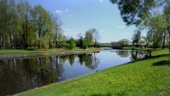 Scenic spring landscape Tilt - stock footage