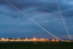 Aircraft at take off Stock Photos