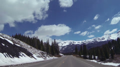 Driving Colorado Rocky Mountains POV HD 0316 Stock Footage