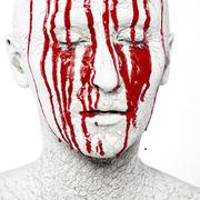 Scary bloody face Stock Photos