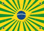 Stock Illustration of brazil sunbeams horizontal background