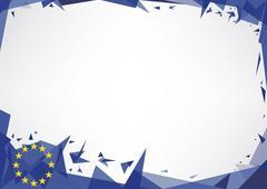 horizontal poster origami of europe - stock illustration