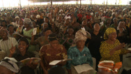 Stock Video Footage of Huge congregation singing, Nigerian mega church