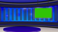 News TV Studio Set 22 - Virtual Green Screen Background Loop Stock Footage