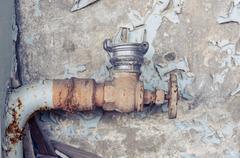 Stock Photo of Old rusty tap closeup