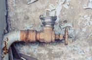 Stock Photo of Old rusty tap closeup