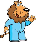 Cartoon lion pajamas Stock Illustration