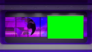 News TV Studio Set 31 - Virtual Green Screen Background Loop Stock Footage