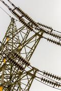 Power line angle shot Stock Photos