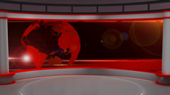 News TV Studio Set 29 - Virtual Green Screen Background Loop - stock footage