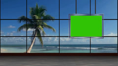 News TV Studio Set 33 - Virtual Green Screen Background Loop - stock footage